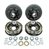 """Trailer 8 on 6.5"""" Hub Drum Kits with 12""""x 2"""" Electric Brakes for 7000 lbs Axle"""