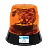 ECCO 5813A 3-Bolt Amber Rotating Beacon Low profile 12VDC 160 FPM