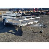 H&H 12' ALUMINUM RAIL UTILITY TRAILER 3K SINGLE AXLE