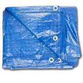12x16 Light Duty Poly Blue Tarp