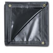 Heavy Duty PVC 8x10 Solid Vinyl Black Tarp