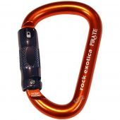 All Gear AGCB3O Rock Exotica Pirate Orange Triple Lock Carabiner