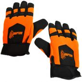 Kevlar Lined Orange Chainsaw Gloves  (Large)