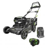 "EGO POWER+ 20"" SELF-PROPELLED BRUSHLESS MOWER STEEL DECK WITH 7.5Ah BATTERY, 550W CHARGER"