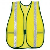 MCR S220WR Safety Vest Lime Mesh with Reflective Stripe