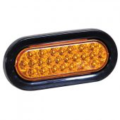 """Buyers SL65AO 6"""" Amber Oval Recessed Strobe Light with 24 LED"""
