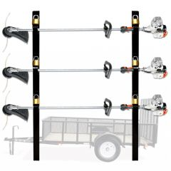 Line Trimmer Holder for Open Trailer Holds 3 String Trimmers