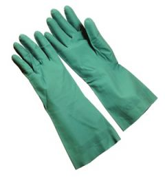 12 Pair - Green Unsupported Nitrile Gloves
