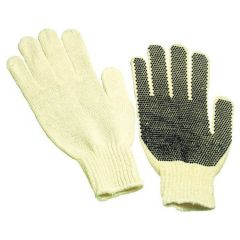 12 Pair - String Knit Gloves with PVC Dots