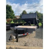 Midsota 18' Flat Front Rear Dump Trailer