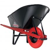 Sterling Handling Equipment 181211 6 Cubic Foot Poly Wheelbarrow with Single Pneumatic Tire