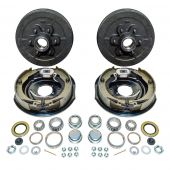 "12"" x 2"" Trailer Electric Brake Hub Drum Kit 6 on 5.5"" for 5200-6000 lbs Axle"