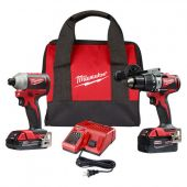 Milwaukee M18™ Compact Brushless Hammer Drill/Brushless Impact Combo Kit