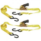 "2PK Buyers RTD211218 1"" X 12 Foot Ratchet Strap Tie Down"