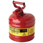 Justrite Manufacturing 7120100 Type I 2 Gallon Red Steel Gas Can
