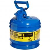 Justrite Manufacturing 7120300 Type I Blue Steel 2 Gallon Gas Can
