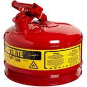 Justrite Manufacturing 7125100 2.5 Gallon Red Saftey GasCan
