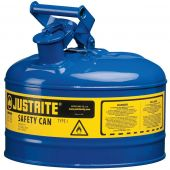 Justrite Manufacturing 7125300 2.5 Gallon Blue Gas Can