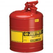 Justrite Manufactring 7150100 Type I Red Steel 5 Gallon Gas Can