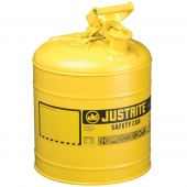 Justrite Manufacturing 7150200 Type I Yellow Steel Gas Can 5 Gallon