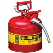 Justrite Manufacturing 7220120 Type II Red Steel 2 Gallon Gas Can