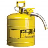 Justrite Manufacturing 7220220 Type II Yellow Steel 2 Gallon Gas Can