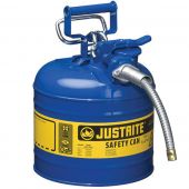 Justrite Manufacturing 7220320 Type II Blue Steel 2 Gallon Gas Can