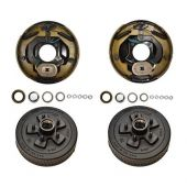 "Trailer 5 on 4.5"" Electric Brake Hub Drum COMPLETE KIT 3500 lb Axle"