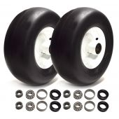 Aftermarket 13x5x6 Solid Tire Assembly Kit (2 Tires & Bearing Kits)