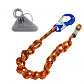 10' Blaze Single Positioning Lanyard With Micro Adjuster