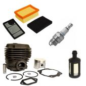 Cylinder & Piston Kit Air Filter Spark Plug Fuel Filter Kit Fits Stihl TS400