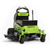 Greenworks GZM 48S Brushless 48-Inch Stand-On Zero Turn Mower w/ 13.8KW Battery & Charger