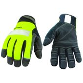 Safety Lime Gloves Lined w/ Kevlar - Extra Large