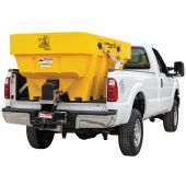 Buyers SaltDogg SHPE1500XYEL Electric Poly Hopper Spreader with Extended Chute (Yellow)