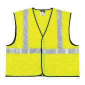 MCR VCL2SL Safety Vest with Reflective Tape, Zipper, and Pocket