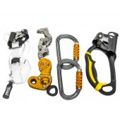 Petzel America ZIGZAG-KIT-3 ZigZag Prusik Left Handed Ascension Climbing Kit