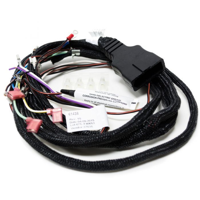 Genuine OEM Western 61438 Wiring Harness on wire sleeve, wire lamp, wire cap, wire antenna, wire clothing, wire holder, wire ball, wire connector, wire nut, wire leads,
