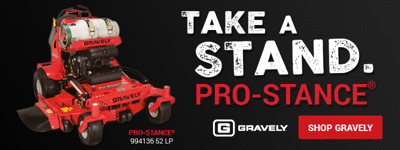 Gravely Pro-Stance stand-on mower