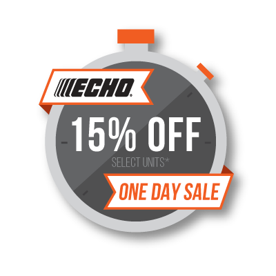15% off most Echo 2-cycle units