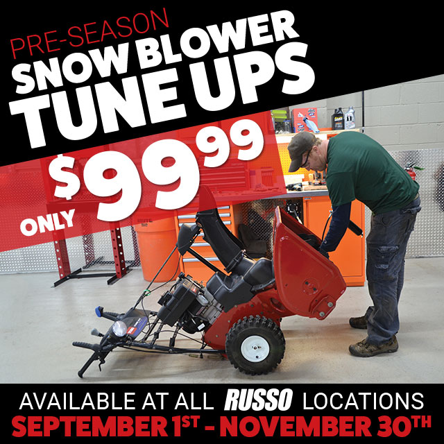 Pre-season snowblower tune up only $99.99!