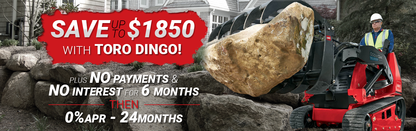 Save up to $1850 on Toro Dingo!