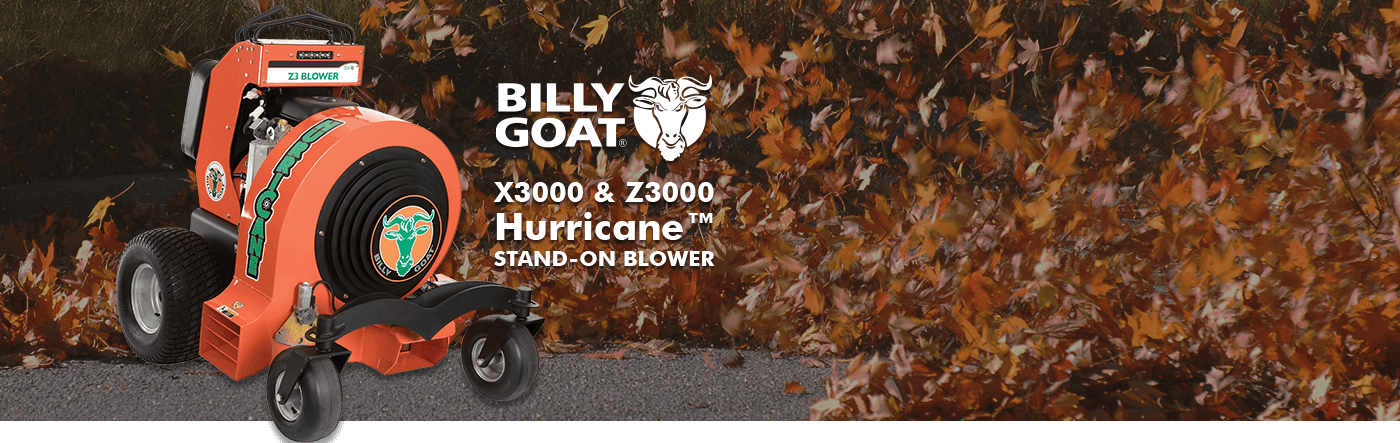 Billy Goat, Wheeled Blower, Leaf Blower, Large Property, Contractor, Municipality, Fall Clean-up